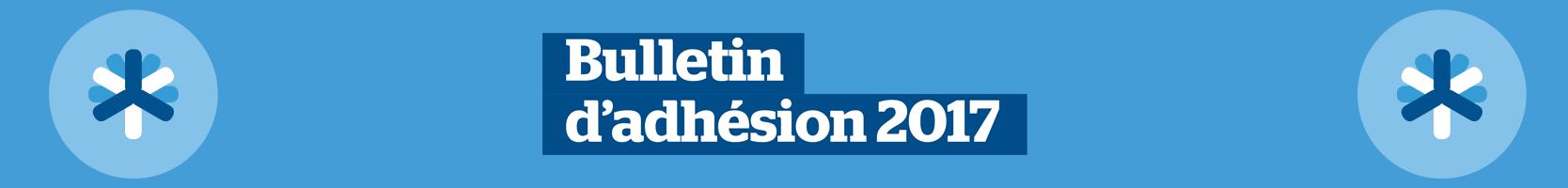 bulletin adhésion 2017