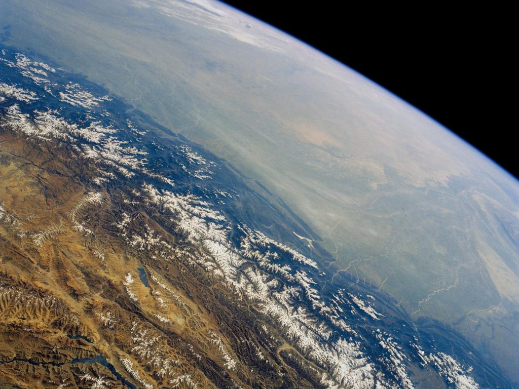 himalaya from ISS